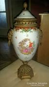 Bronz porcelán ampír váza vagy urna!