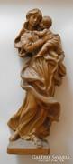 Mária  a gyermekkel fa szobor