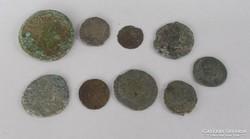 9 db római bronz pénz érme eladó