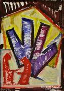 Közép-európai festő, 2002 : Kompozíció 2002