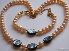 Valódi tenyésztett gyöny és abalone kagyló szett