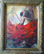 Táncosnő  5. c. festmény