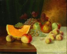 Magyar festő, XIX. század : Gyümölcscsendélet