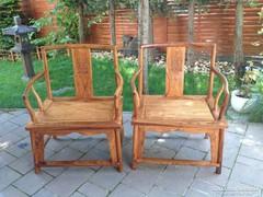 Tradicionális kínai rózsafa faragott szék