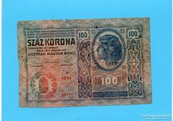 100 Korona 1912 azonosítandó Bélyegzéssel!