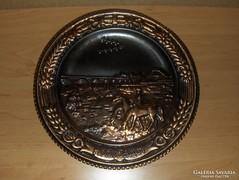 Retro réz fali tányér HORTOBÁGY emlék (/d)