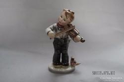 Goldscheider kis fiú hegedűvel