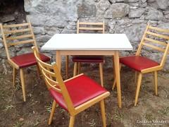 Vintage,Dan, asztal  4 szekekkel