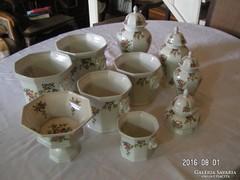 Oroszlánfejes porcelán készlet