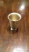 Ezüst keresztelő pohár florális mintával