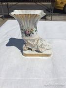 Gyönyörű Kosfejes jelzett kis váza/dísz
