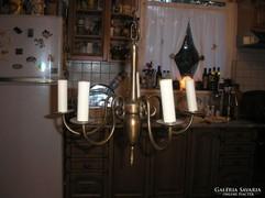 Antik5 karú barok bronz csillárok három egyforma