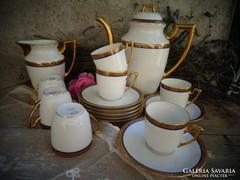 Limoges porcelán kávés szett,aranyozott!!Csodaszép!!