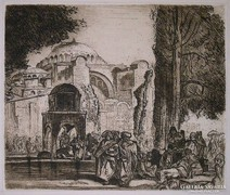 XIX. századi művész : Keleti bazár