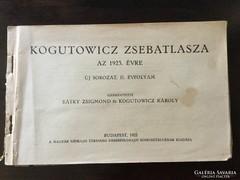 Kogutowicz zsebatlasza az 1923 -as évre