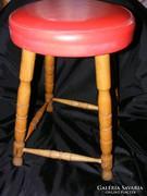Retro szék, puff, hibás