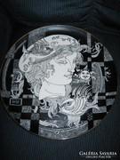 Szász Endre tányér, 31 cm