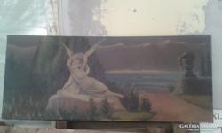 Olajfestmény - 50x122 cm
