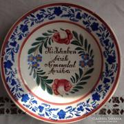 Bélapátfalvi , Apátfalvi tányér