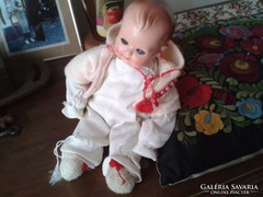 Régi felhúzható baba Működik