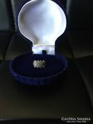 Régi ezüst gyűrű markazitokkal