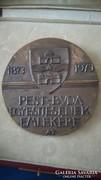 Pest és Buda Egyesítésének emlékére bronz plakett