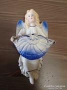 Antik porcelán angyalkás szenteltvíztartó