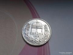 1912 ezüst 1 korona gyönyörű db!!!ritkább!MAGYAR