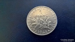 Franciaország 1 Frank 1961.