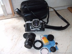Nikon fényképezőgép objektívval, szűrővel,táskájában eladó!