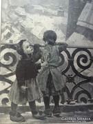 Csodálatos 120 éves antik nyomtatott kép gyűjteményből