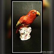 Herendi Papagáj, kuriózum! Antik, NAGY, EXTRA aranyozás!