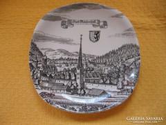 Városképes tányér