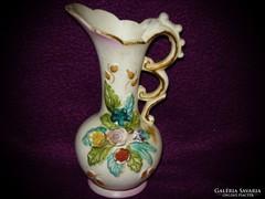 Egyszálas virág mintás kerámia váza