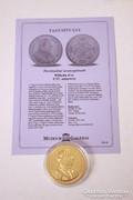 Történelmi aranypénzek sorozat - Wilhelm d'or 1737