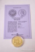 Történelmi aranypénzek sorozat - I. Ottó 20 drahma 1833