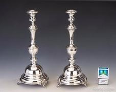 Ezüst nagyméretű gyertyatartópár