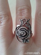 Rózsás ezüstgyűrű eladó