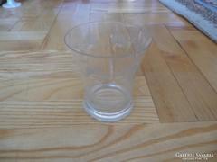 Régi csiszolt  üveg pohár