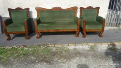 Biedermeier  háromrészes ülőgarnitúra