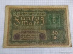 Szép 50 Márka Németország, 1919 !!