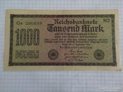 Szép 1000 Márka Németország, 1923 !!