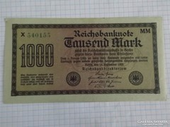Nagyon szép 1000 Márka Németország, 1923 !!