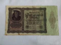 Szép 50000 Márka Németország, 1922 !!