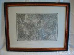 Keretezett régi térkép