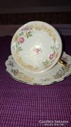 Bavaria német porcelán teáscsésze + alj (Barokk)