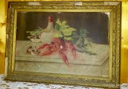 Boros J. 1902 antik csendélet festmény