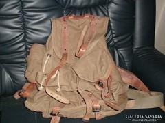 LAFUMA bőr + vászon katonai és légiós hátizsák. Jelzett.