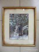 Koltai: Téli táj síelőkkel, 1943