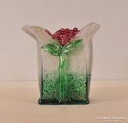 Kortárs iparművész, Hortenziás üvegváza, többrétegű színezet